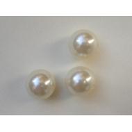 Perla effetto perlato in resina liscia colore Bianco