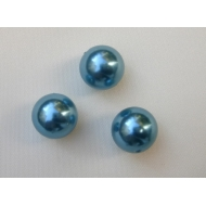 Perla effetto perlato in resina liscia colore Acqua