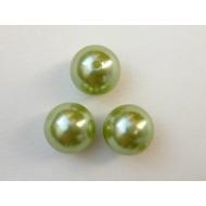 Perla effetto perlato in resina liscia colore Verde oliva chiara