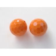 Palla multisfaccettata in resina color Arancione