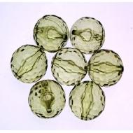 Palla multisfaccettata in resina color Verde oliva chiaro trasparente