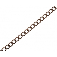 Catena grumetta, con anello liscio e piatto, dimensione anello 9x7 mm.