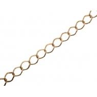 Catena grumetta, martellata esternamente, dimensione anello 13x9 mm.