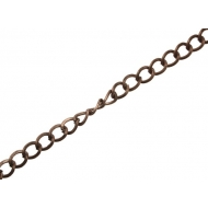 Catena grumetta, zigrinata su un lato, dimensione anello 9x12 mm.