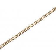 Catena grumetta, doppia, con anelli sottili, dimensione anello 5x7,5 mm.