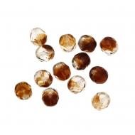 Mezzo cristallo colore Marrone sfumato con panna trasparente