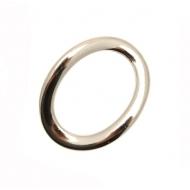 Anello ovale chiuso liscio piatto ondulato, 35x30 mm.