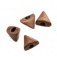 Distanziatore a forma di triangolo piatto liscio, 13x11 mm.
