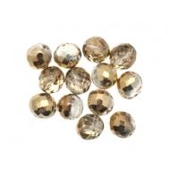 Mezzo cristallo colore Crystal sfumato con oro