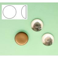Cabochon tondo liscio, in cristallo, colore CRYSTAL