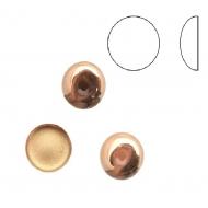 Cabochon tondo liscio, in cristallo, colore ROSA