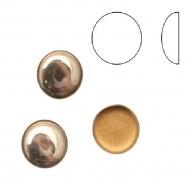Cabochon tondo liscio, in cristallo, colore ROSA ANTICO CHIARO