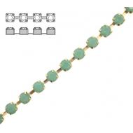 Catena strass, con cristalli non swarovski, base in metallo colore ottone, colore strass PACIFIC OPAL