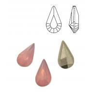 Gemma a goccia sfaccettata, in plexiglass, colore ROSE OPAL