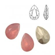 Gemma a goccia sfaccettata, in plexiglass, colore ROSA OPAL