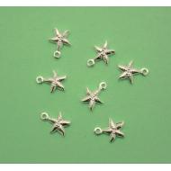 Ciondolo a forma di stella marina, 8x10 mm., in Argento 925