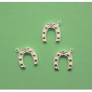 Ciondolo a forma di ferro di cavallo, 12x13 mm., in Argento 925