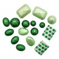Mix Perline in Resina colore VERDE CHIARO