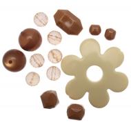 Mix Perline in Resina colore MARRONE CHIARO E BEIGE