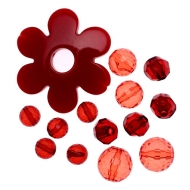 Mix Perline in Resina colore ROSSO
