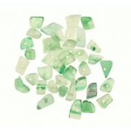 Chips in pietra dura, Agata tinta di verde peridot sfumato
