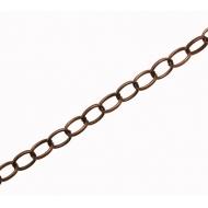 Catena ovale, con anelli squadrati, dimensione anello 8x6 mm.